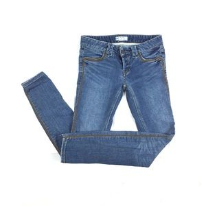 Free People skinny button fly piping jeans size 26